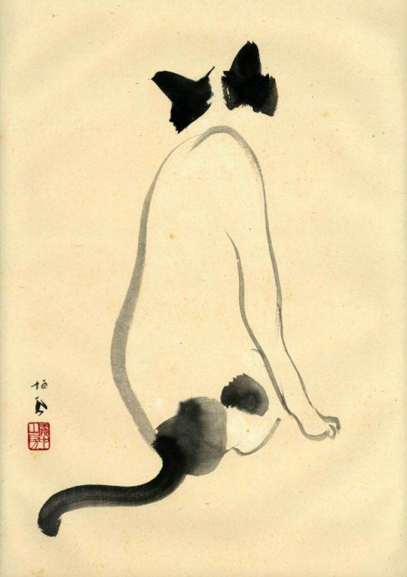 Takeuchi Seiho, cats in asian art