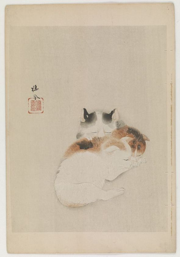 Takeuchi Seiho, Three Kittens