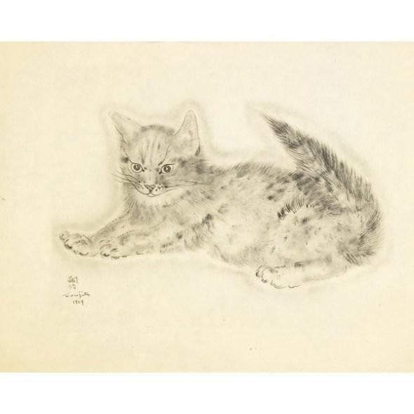 from A Book of Cats, 1930 Leonard Tsugoharu Foujita