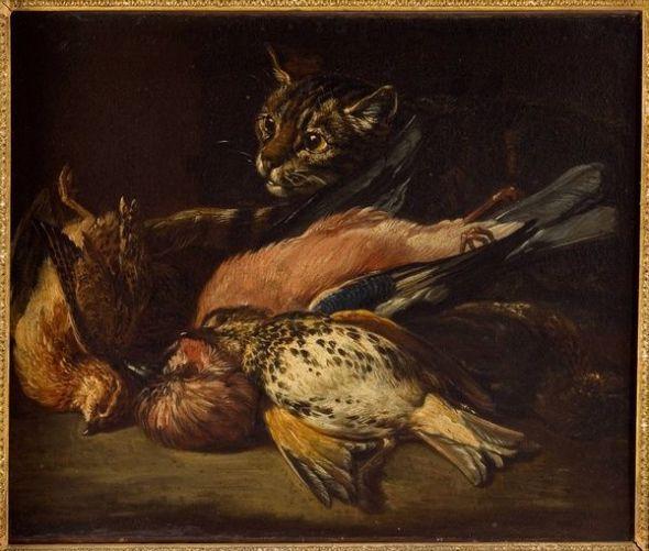 Jan FYT Chat convoitant du gibier,1661