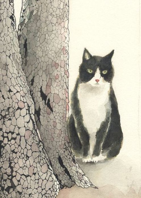 Midori Yamad7, Tuxedo cat, 2010