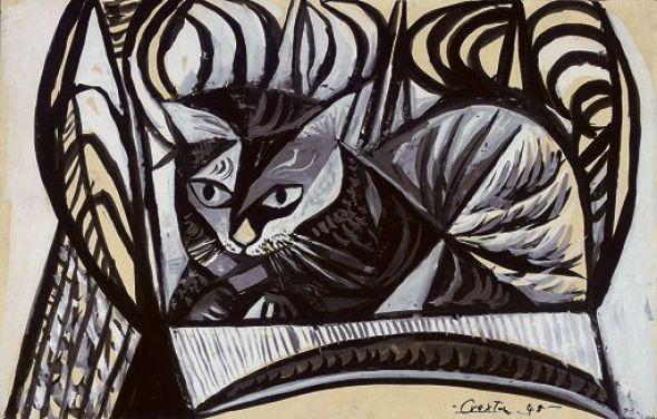 5-Cat on a Chair, 1922, John Craxton