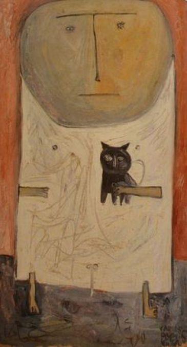 Carlos Paez Vilaro, Child and Cat