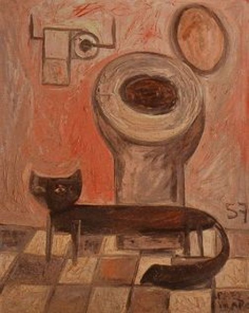 Cat in the Bathroom, Carlos Paez Vilaro