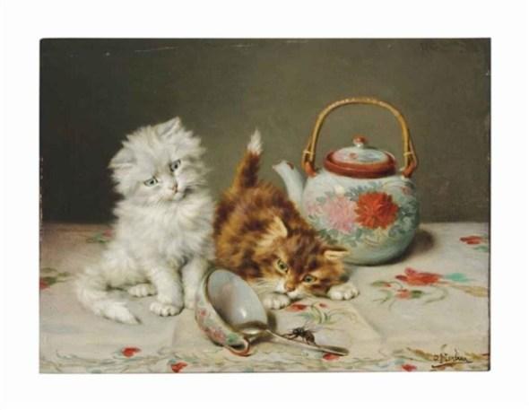 Curious Kittens at Play, Daniel Merlin