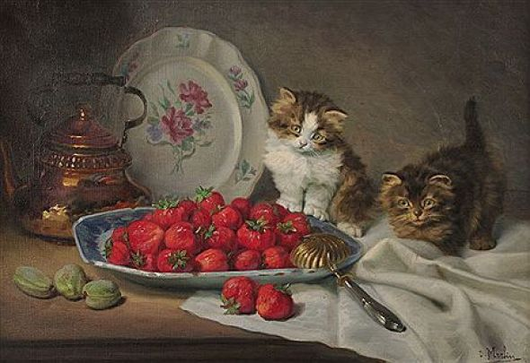Kittens and Strawberries, Daniel Merlin
