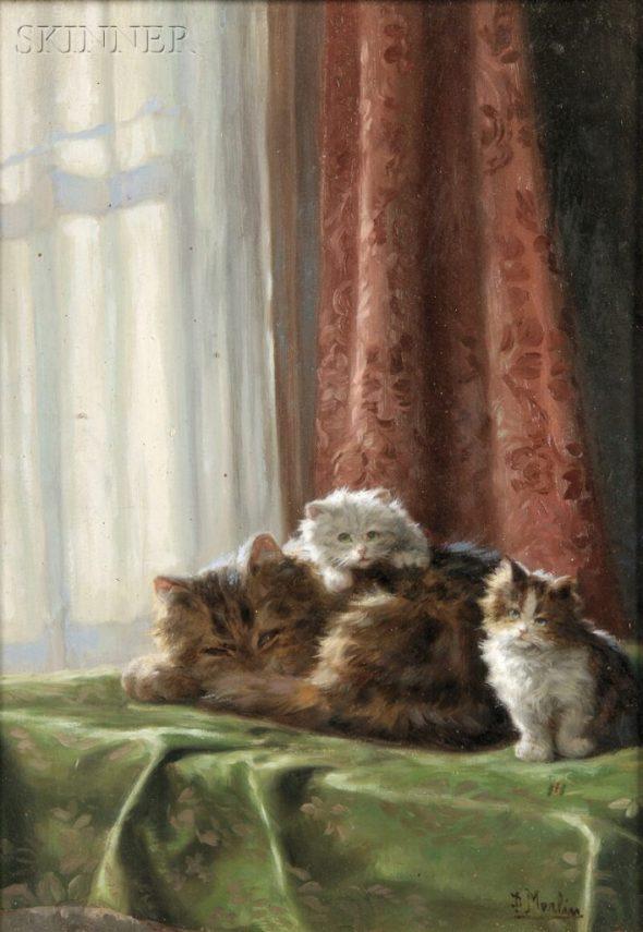 Mother with Kittens, Daniel Merlin