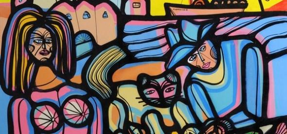Woman, Man and Cat, Carlos Vilaro
