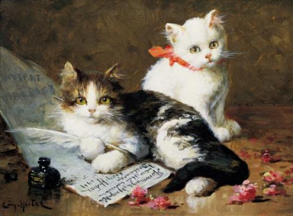A Young Feline Author, Leon Charles Huber