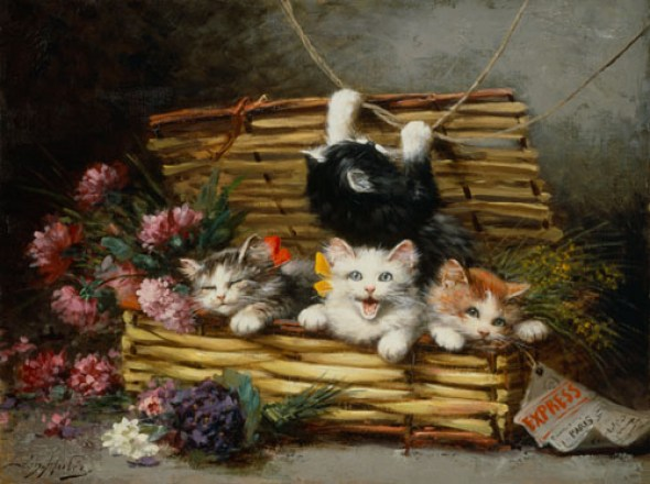 A Basket Full of Cats, Leon Charles Huber