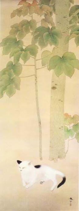 Cat under an Odong Tree, Shunso Hishida