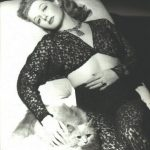 Ann Sheridan and cat, famous cat lovers