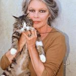 Brigette Bardot and cat, famous cat lovers