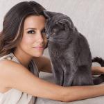 Eva Longoria and cat