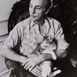 George Balanchine and cat