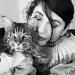 Kate Bush and cat, famous cat lovers