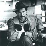 Kinky Friedman with his cat.