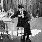 Leonard Cohen and cat, famous cat lovers