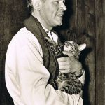 OW Fischer and cat, famous cat lovers