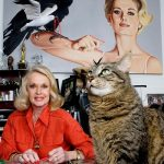 Tippi Hedren and cat, famous cat lovers