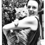 June Lockhart and George her cat