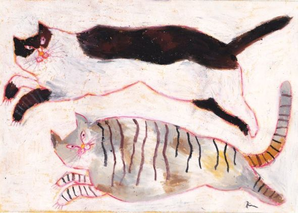 Miroco Machiko, Two Cats Playing