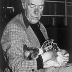 Anthony Powell and cat