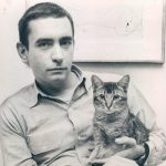 Edward Albee and cat, famous cat lovers-writers