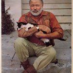 Ernest Hemingway and Cat
