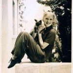 Ginger Rogers and cat