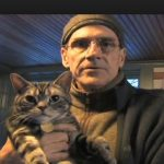 James Taylor and cat
