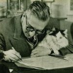 Jean Paul Sartre and cat