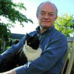 John Rutter and cat
