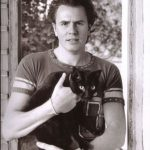 John Taylor of Duran Duran and cat