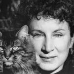 Margaret Atwood and cat, famous cat lovers-writers