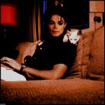 Michael Jackson and cat