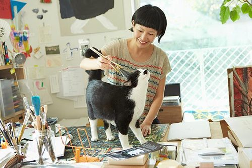Miroco Machiko and cat 1