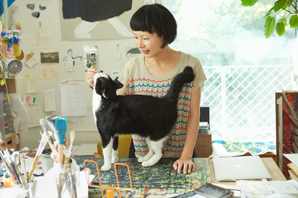 Miroco Machiko and cat 2