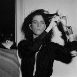Patti Smith and cat