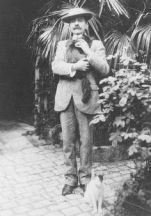 Pierre Loti with cat