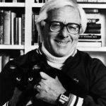 Ray Bradbury and cat