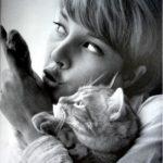 Sylvie Vartan and her Cat, 1962