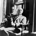 Thomas Hardy with cat