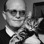 Truman Capote with cat 3