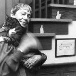 Ursula Le Guin and her cat.