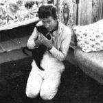 William Faulkner and cat
