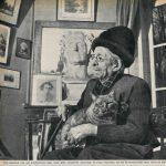 paul Leautaud 1956 with cat