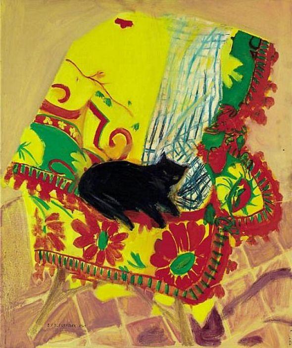 Cat on a Rug, 1969 Elizabeth Blackadder