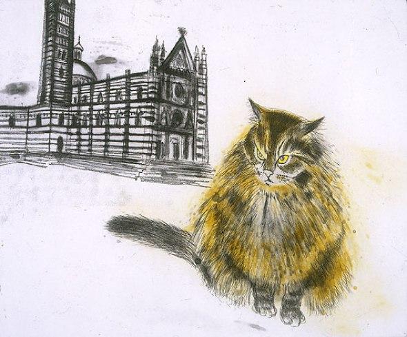 Long Haired Cat, Elizabeth Blackadder