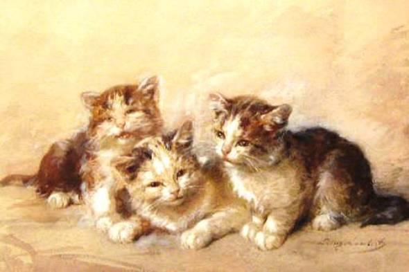 Three Kittens, Louis Eugene Lambert